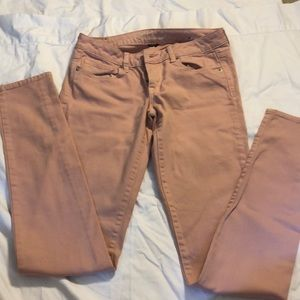 A&E Pink Skinny Jeans- 6 x-long